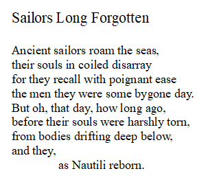 Poem about nautiluses being drowned and sailors reincarnated