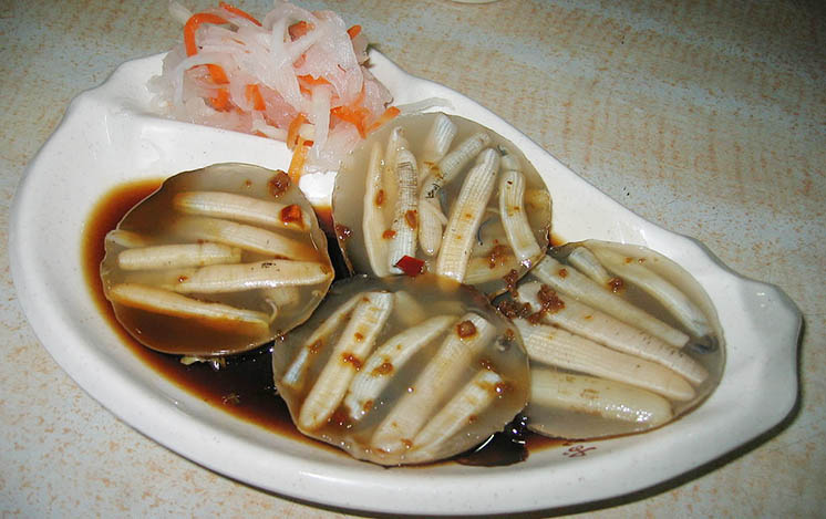 A plate of Sipunculan Worm Jelly
