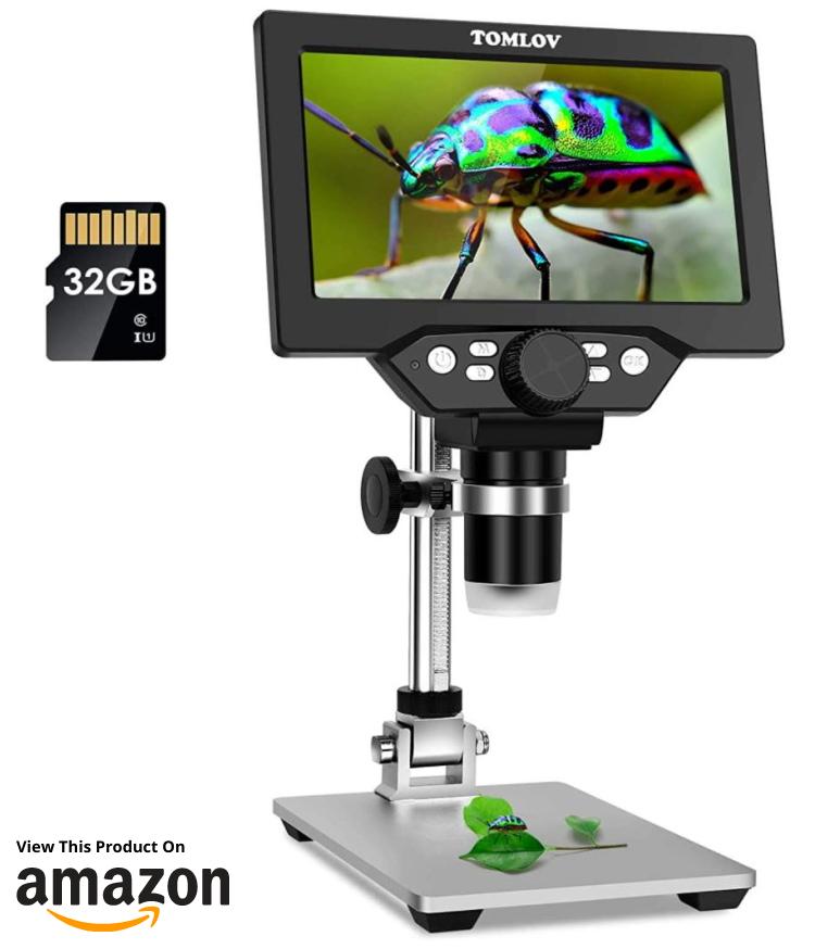 """TOMLOV 7"""" LCD Digital Microscope"""